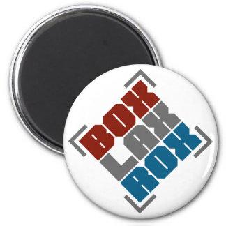 Box Lacrosse Rocks 6 Cm Round Magnet