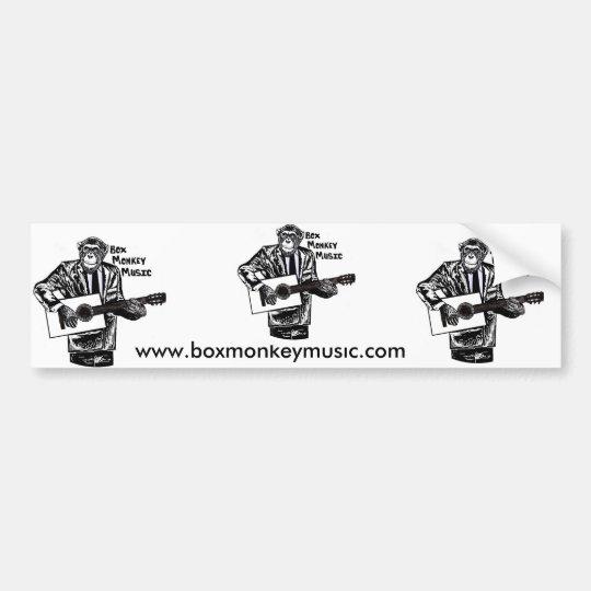 Box Monkey Bumper Sticker