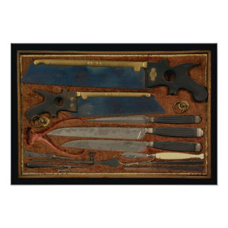 Box of anatomical instruments poster