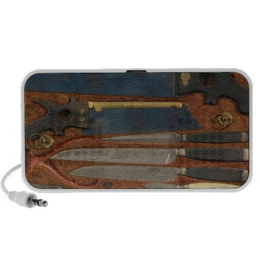 Box of anatomical instruments iPod speaker