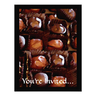 Box of Chocolates Tempting Chocolate Candy Invite