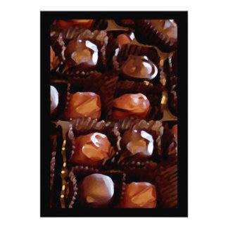 Box of Chocolates Tempting Chocolate Candy Invitations