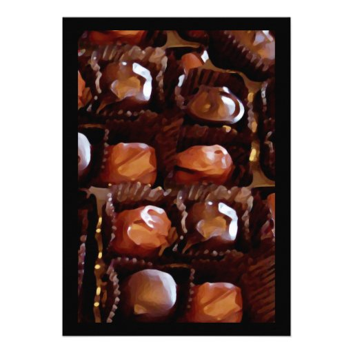 Box of Chocolates, Tempting Chocolate Candy Invitations