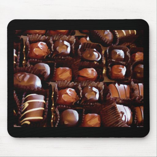 Box of Chocolates, Tempting Chocolate Candy Mouse Pads