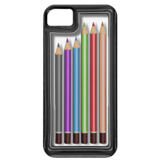Box of coloured pencils iPhone 5 covers