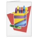 Box Of Crayons Greeting Card