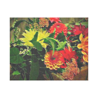 Box of Dahlia's - Canvas Artwork Canvas Print