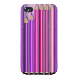 Box of pencils design iPhone 4 cover