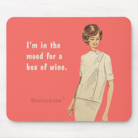 box of wine mouse mat