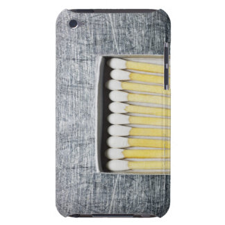 Box of wooden matches on stainless steel iPod Case-Mate cases