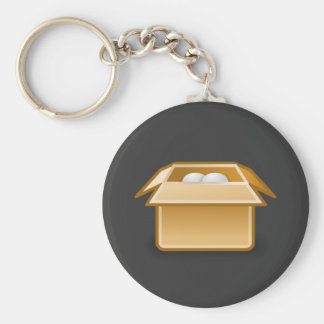 Box Packing Shipping Basic Round Button Key Ring