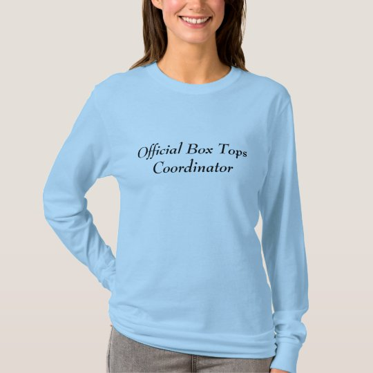 Box Tops Coordinator - Front & Back T-Shirt