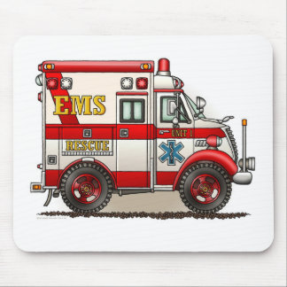 Box Truck Ambulance Mouse Pad