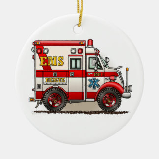 Box Truck Ambulance Ornament