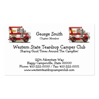 Box Truck Ambulance Pack Of Standard Business Cards