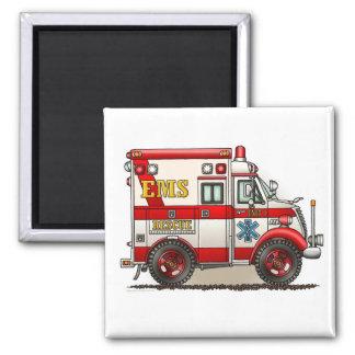 Box Truck Ambulance Square Magnet