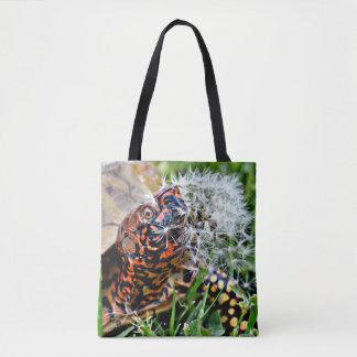 Box Turtle Dandy Lion Run In Tote Bag