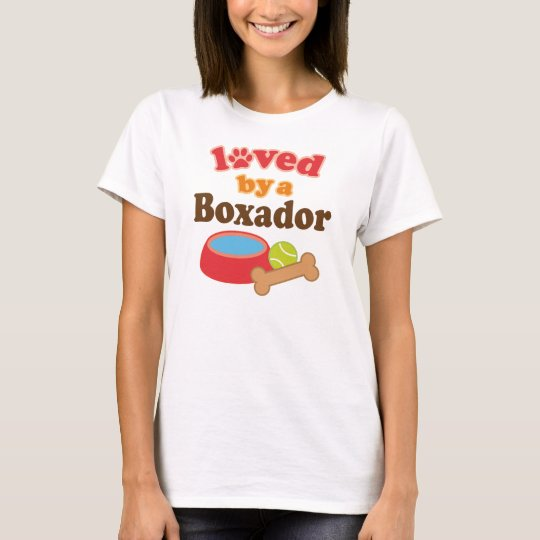 Boxador dog Lover womens pet t-shirt