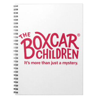 Boxcar Children Official Logo with Tagline Notebook