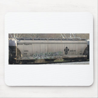 Boxcar Train Tagged Art Mouse Pads
