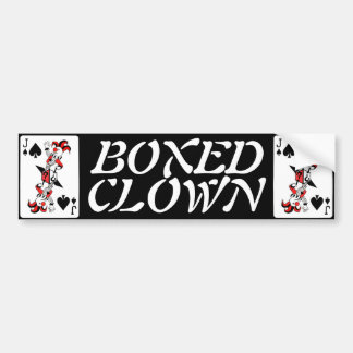 """Boxed Clown"" Bumper Sticker"