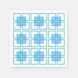 Boxed In Turquoise Paper Napkins