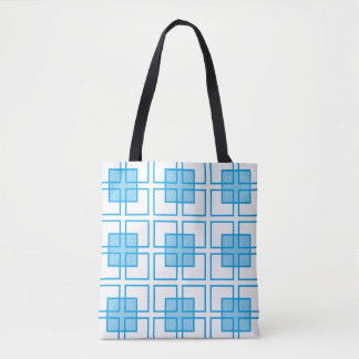 Boxed In Turquoise Tote Bag
