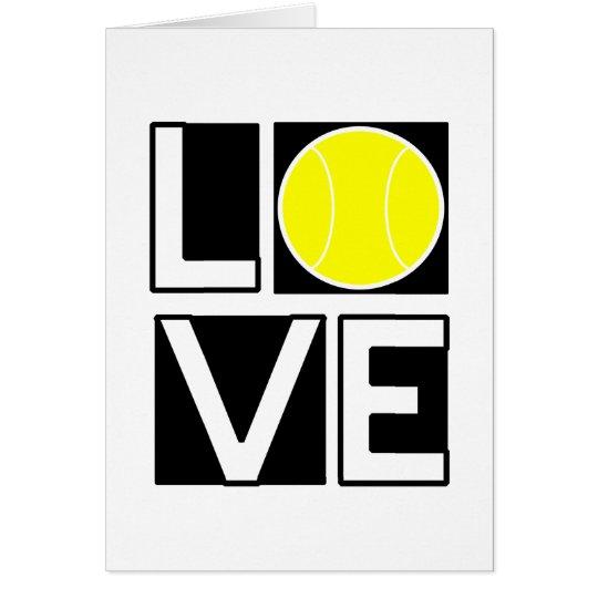 Boxed LOVE Tennis Card
