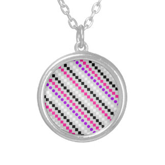 Boxed Stripe 2014 Silver Plated Necklace