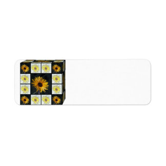 Boxed Sunflowers Avery Label Return Address Label