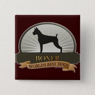 Boxer 15 Cm Square Badge
