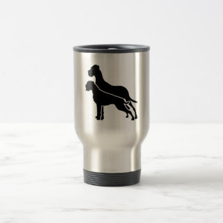 Boxer and great dane travel mug