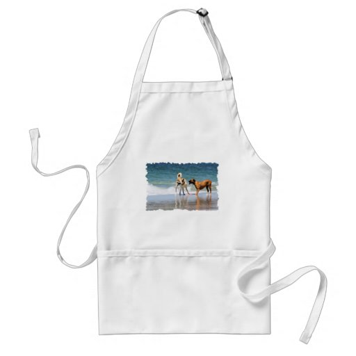 Boxer and Pal - Was that a Dolphin? Apron