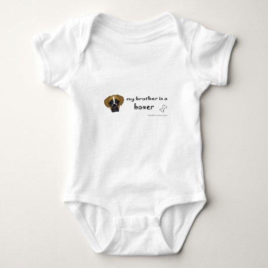 boxer baby bodysuit