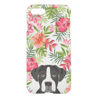 Boxer black and white dog phone case, hawaiian iPhone 8/7 case