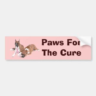 Boxer Breast Cancer Bumper Sticker