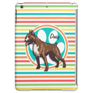 Boxer; Bright Rainbow Stripes iPad Air Case