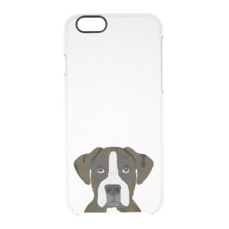 Boxer brindle dog iphone caes clear iPhone 6/6S case