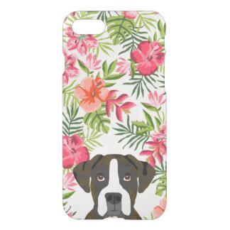 Boxer brindle dog iphone case hawaiian tropical