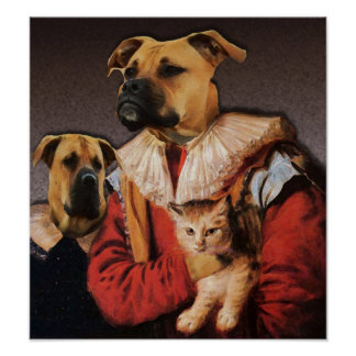 Boxer Brothers and Their Cat Poster