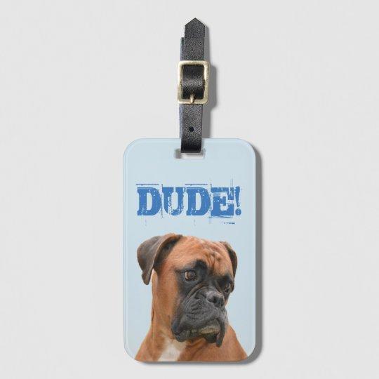 Boxer Bulldog Luggage Tag With Credit Card Slot