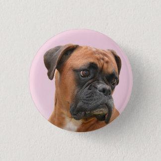 Boxer Bulldog Pink Button