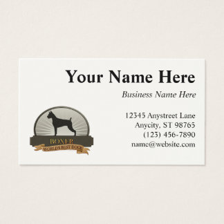 Boxer Business Card