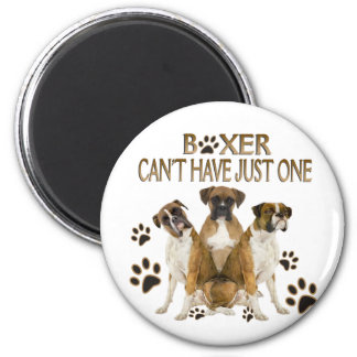 Boxer Can't Have Just One Gifts 6 Cm Round Magnet