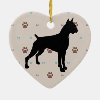 Boxer Ceramic Heart Decoration