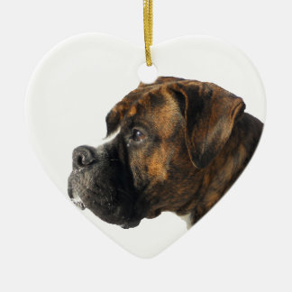 boxer ceramic heart decoration