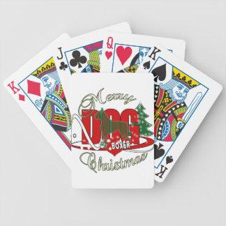 BOXER CHRISTMAS DOG BICYCLE PLAYING CARDS