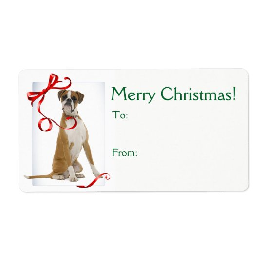 Boxer Christmas Gift Stickers