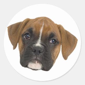Boxer Classic Round Sticker
