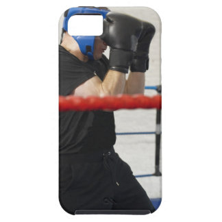 Boxer covering his face in ring case for the iPhone 5